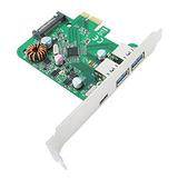FPE-4U313 PCIe USB3.1 Gen1 ( 5Gbps) Type-C + Type-A x 2_VIA VL805